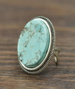 Turquoise Adjustable Ring - SexyModest Boutique