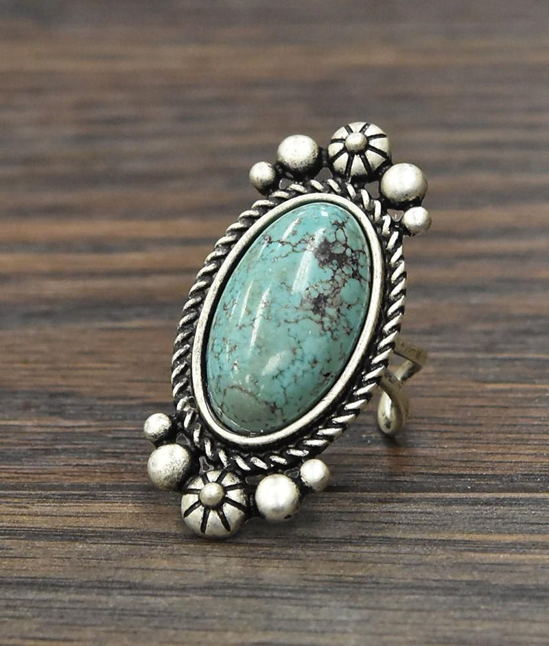Detailed Turquoise Ring - SexyModest Boutique