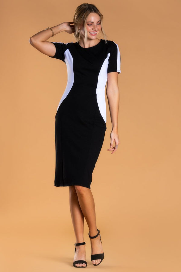 Brigitte Brianna Black & White Dress