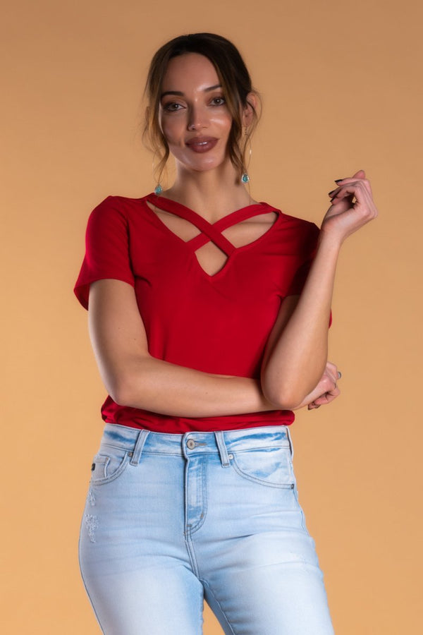 Brigitte Brianna Criss Cross Top