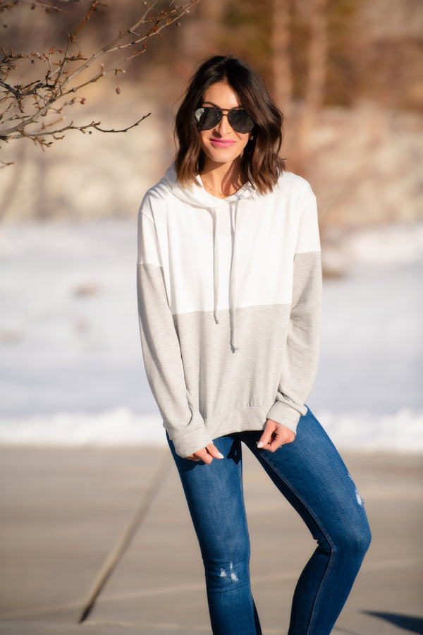 Brigitte Brianna Color Block Hoodie - SexyModest Boutique