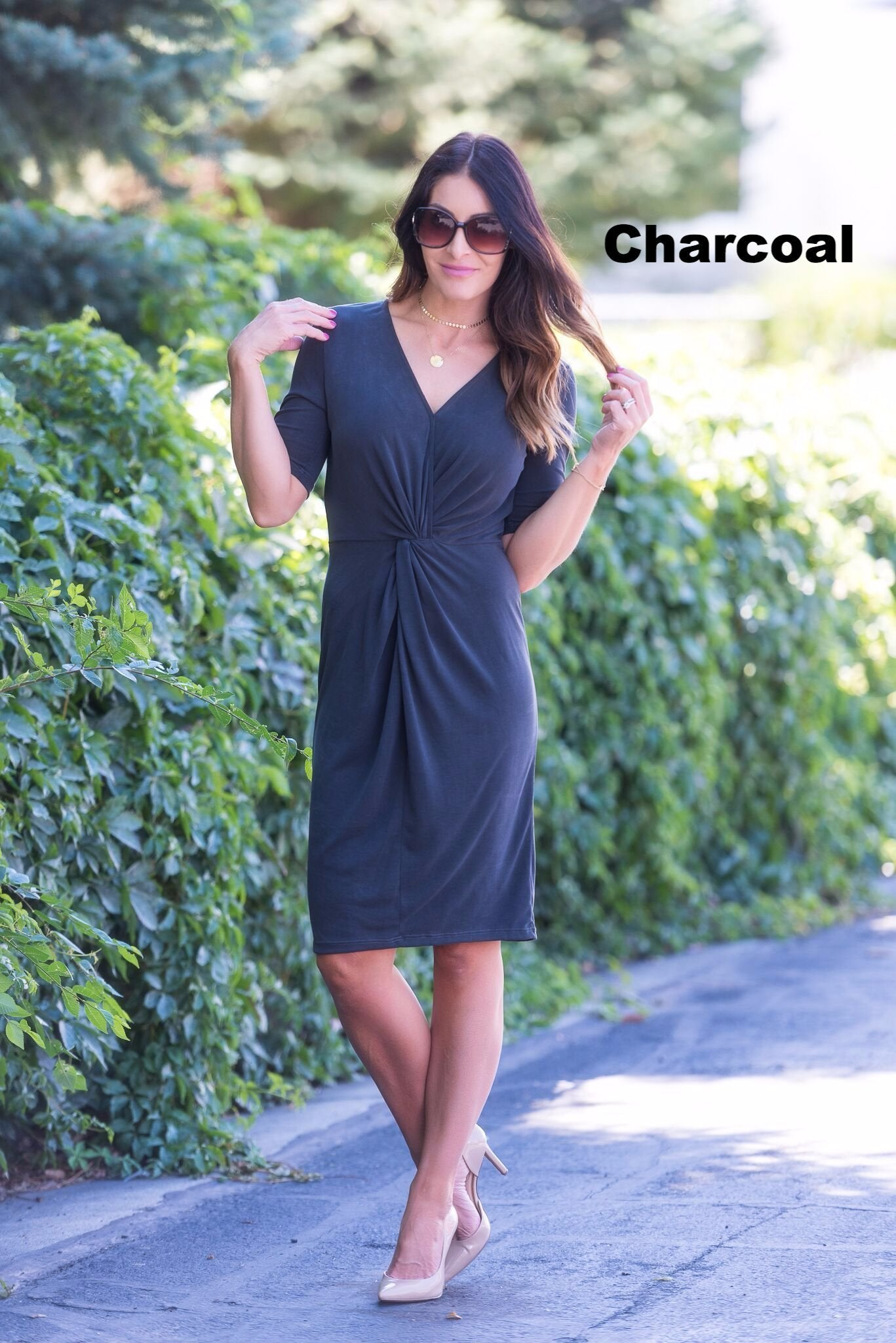 Brigitte Brianna Twist Front Dress