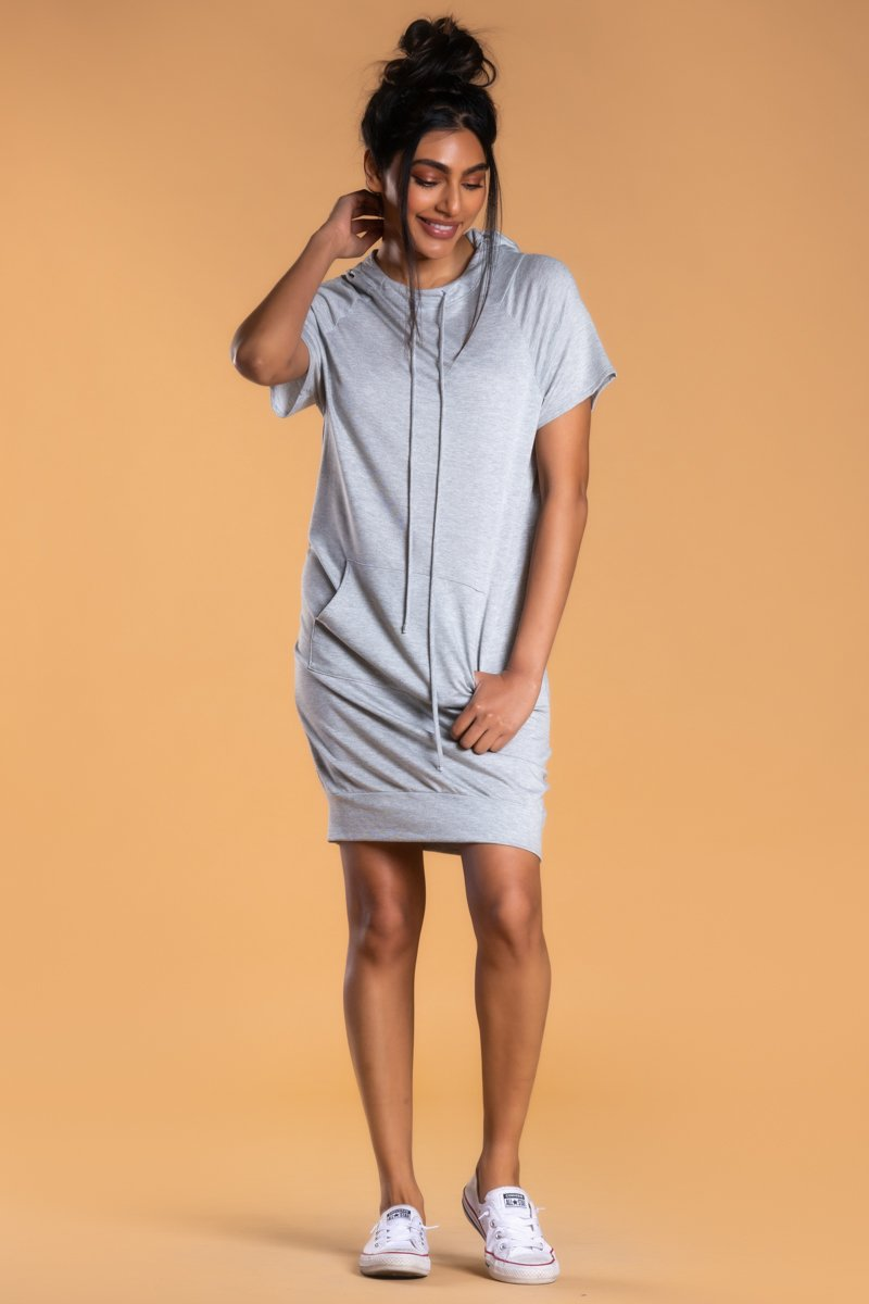 Brigitte Brianna Hooded Sweatshirt Dress