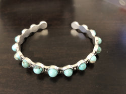 Natural Round Turquoise Bracelet