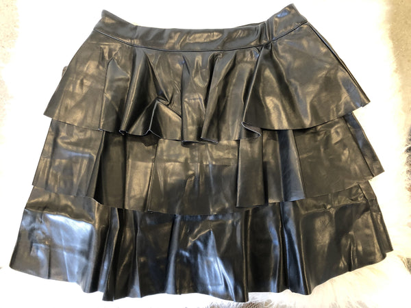 Mercedes Faux Leather Skirt