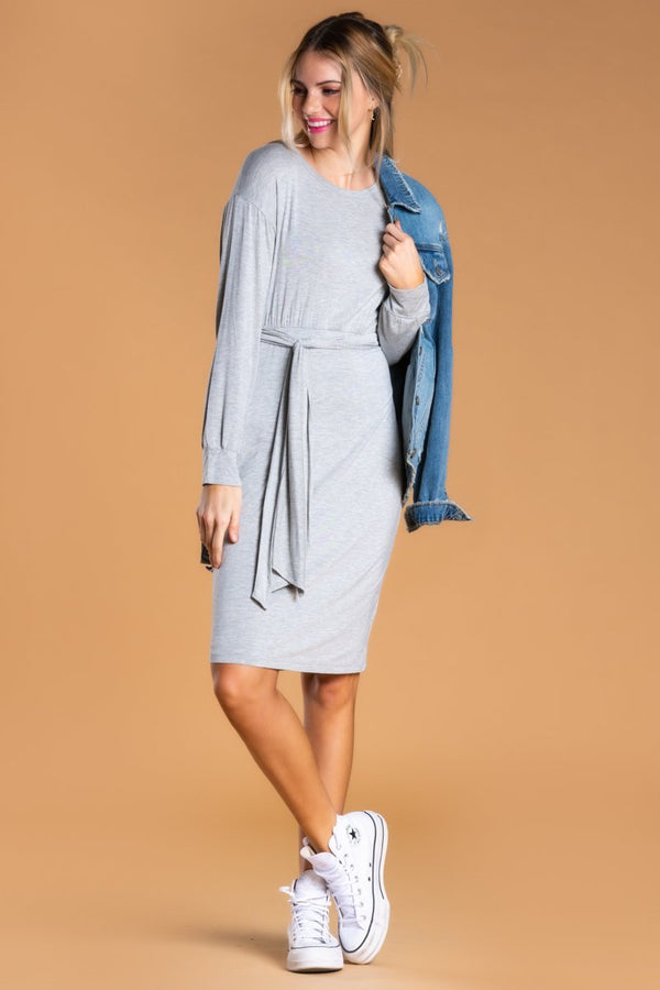 Brigitte Brianna Long Sleeve Jersey Dress