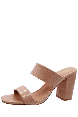 Crocodile Double Strap Sandal