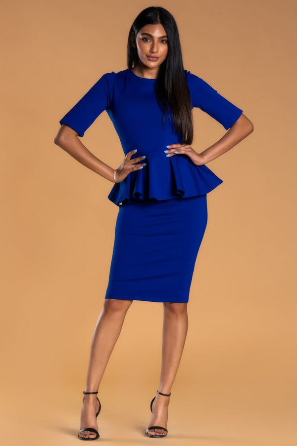 Brigitte Brianna Peplum Dress by SexyModest Boutique