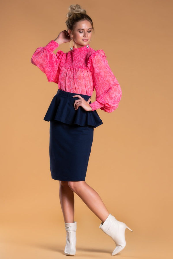 Brigitte Brianna Peplum Party Skirt