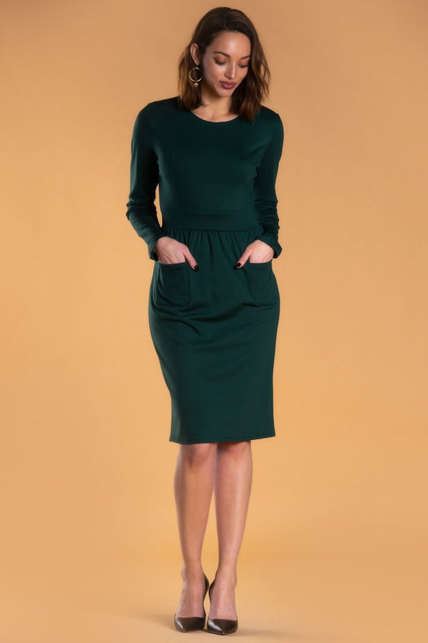 Brigitte Brianna Pocket Front Dress by SexyModest Boutique