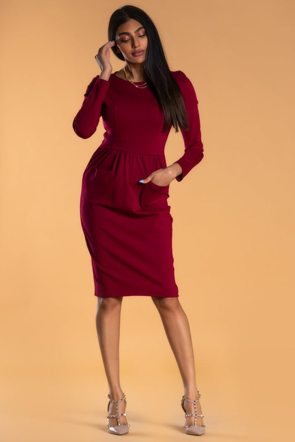 Brigitte Brianna Pocket Front Dress