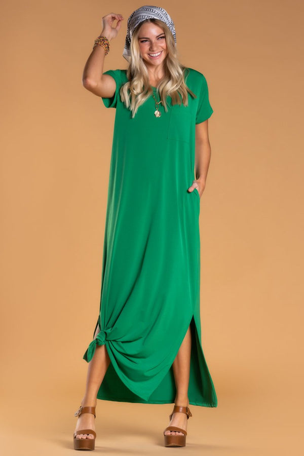 Brigitte Brianna Pocket Maxi Dress