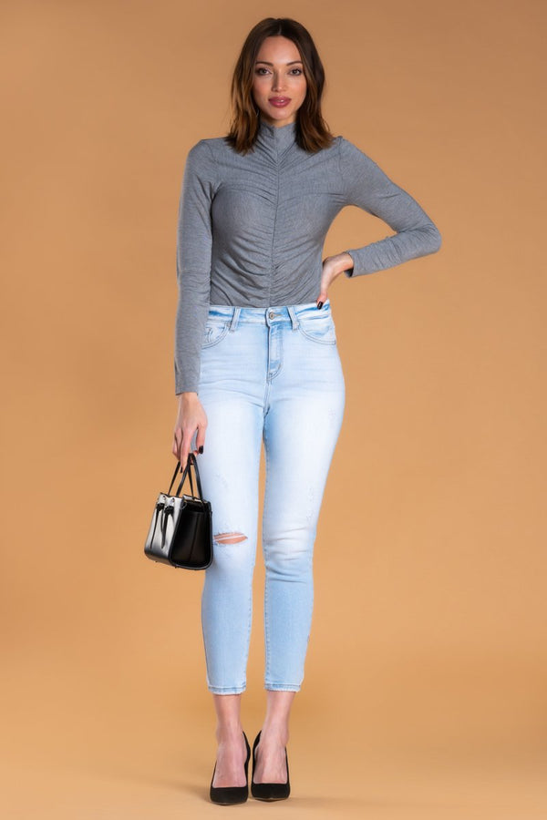 Brigitte Brianna Ruched Turtle Neck
