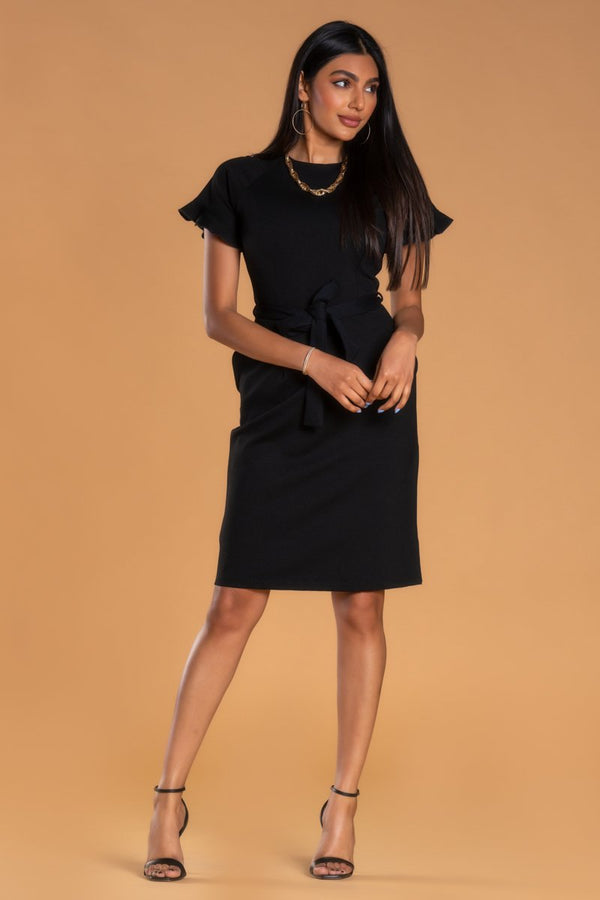 Brigitte Brianna Ruffle Sleeve Dress