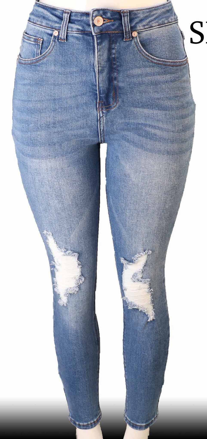 Olive Distressed Jeans