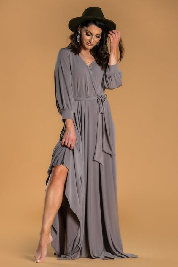 Brigitte Brianna Wrap Maxi Dress