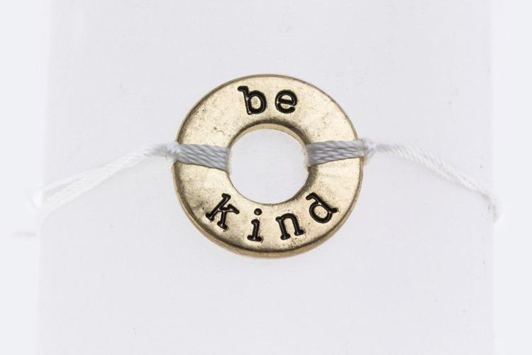 Be Kind Drawstring Bracelet