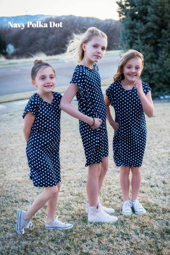 Brigitte Brianna Kids Pocket Tee Dress - SexyModest Boutique