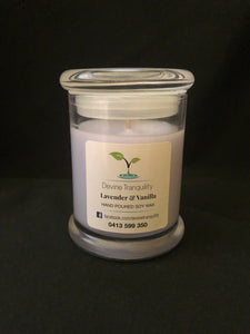 Lavender & Vanilla/soy/wax/Large /candle