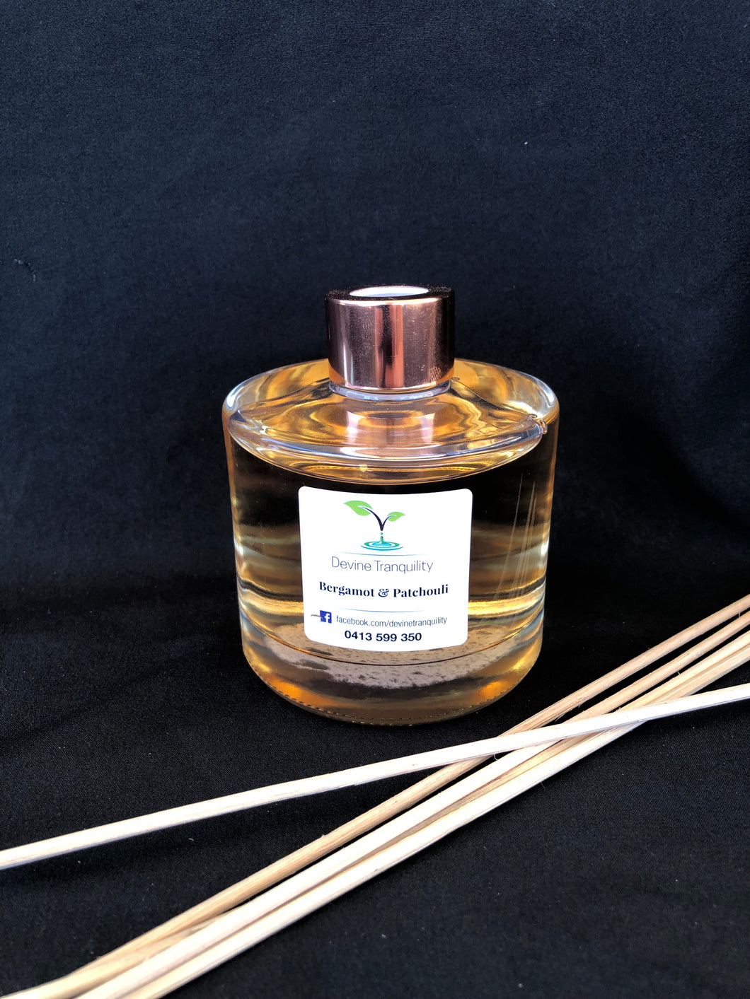 Bergamot & patchouli scented reed diffuser large
