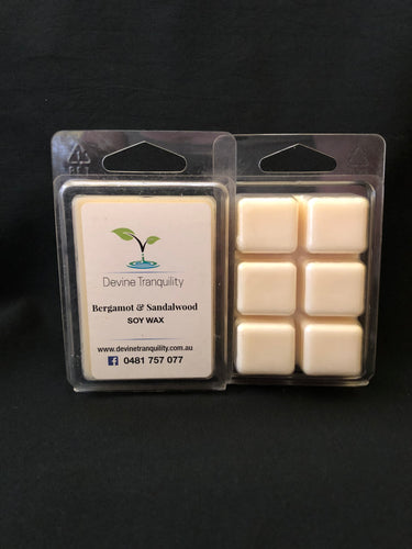 bergamot & Patchouli scented soy melts