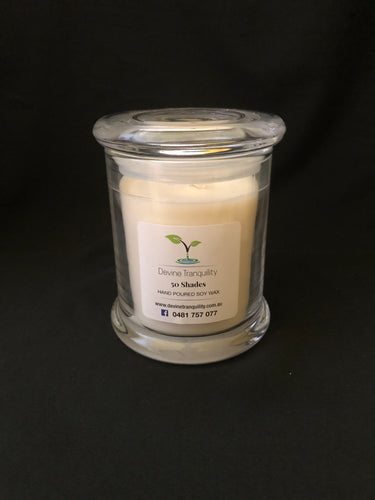 Large 50 shades soy fragance candle