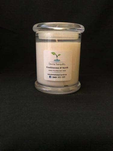 Frankincense & Myrrh/soy/wax/candle/large