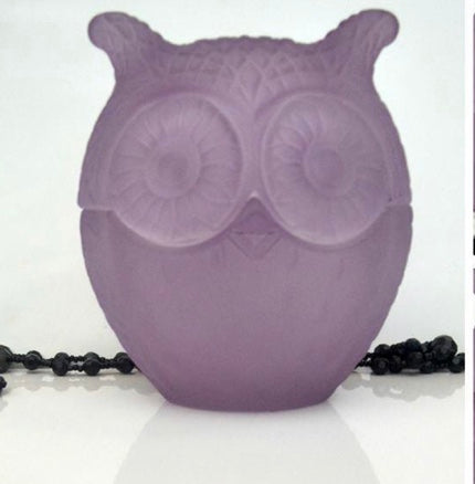owl/blue/purple/soy/wax/candle
