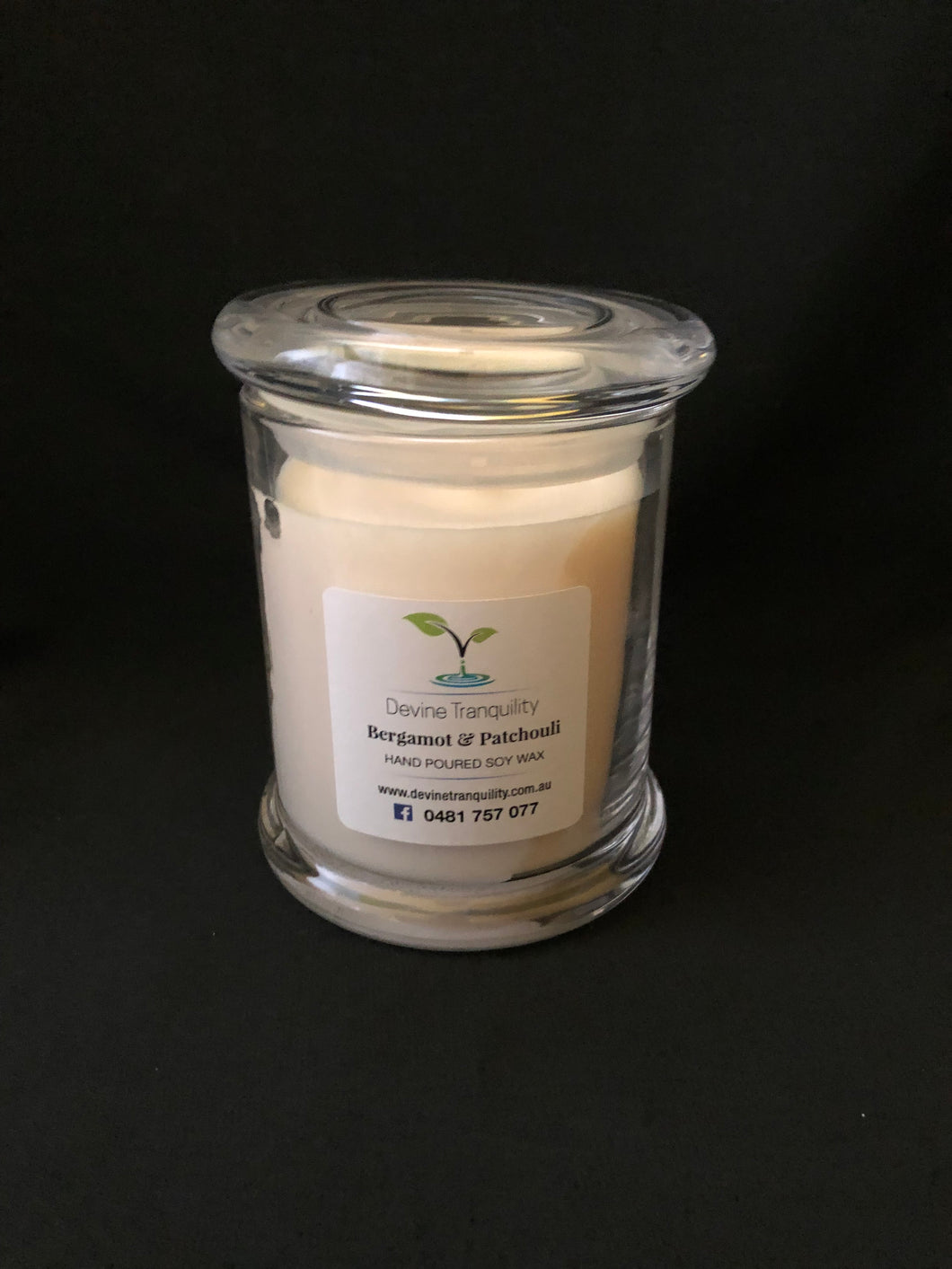 Bergamot & Patchouli medium soy candle
