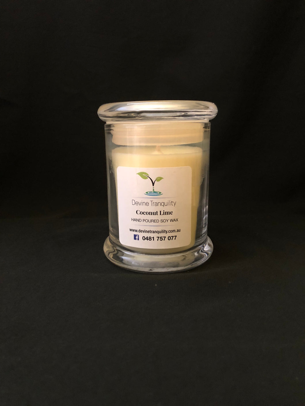 Coconut Lime /medium candle/ soy/ wax
