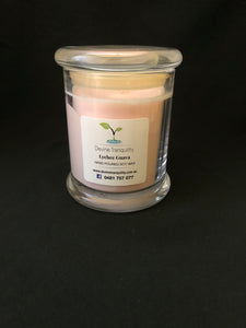 Lychee & Guava/soy/wax/large/candle