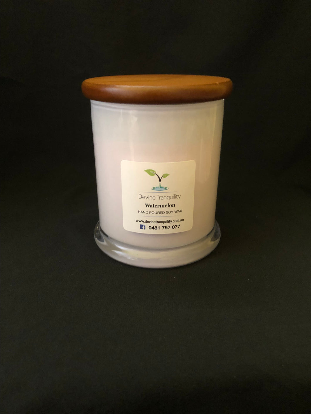 watermelon soy extra large candle