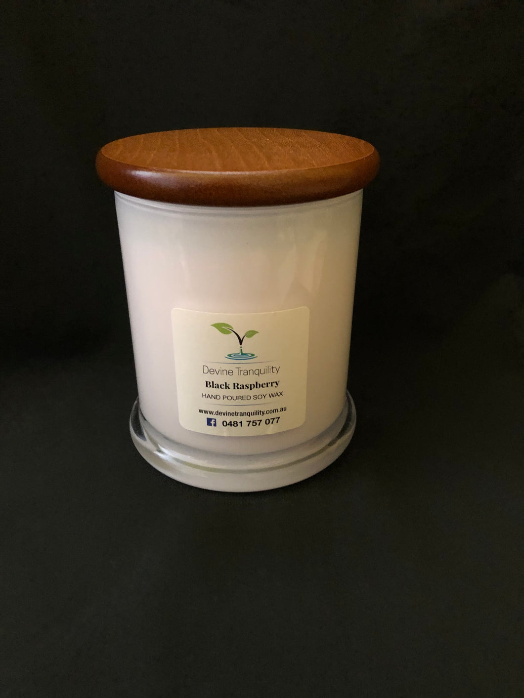 Black Raspberry & vanilla xxl scented soy candle