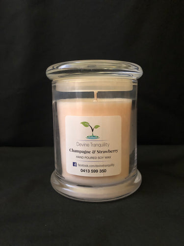 Champagne & Strawberry/soy/candle/ large