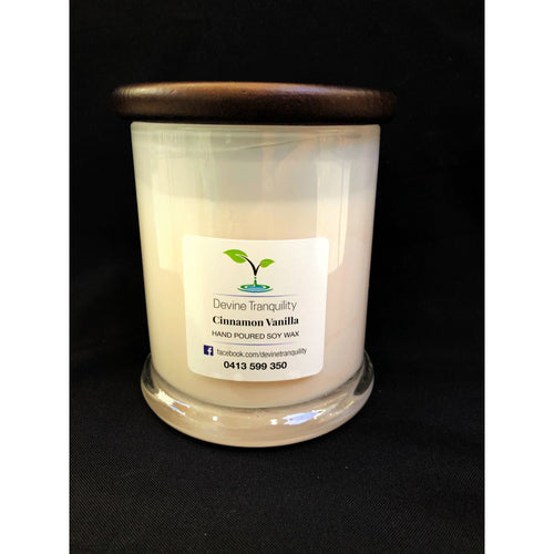 Cinnamon Vanilla/soy/wax/extra large candle