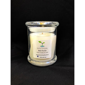 Baby powder medium soy candle
