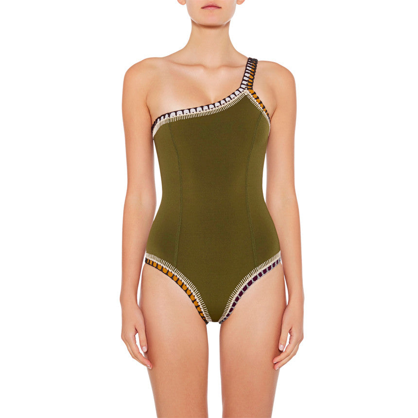 Wren - One Shoulder Maillot