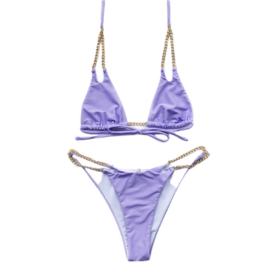 Chain Linked Triangle Bikini Swimsuit