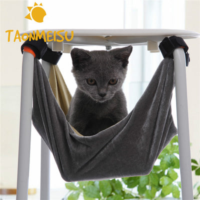 Pet Hammock Pet Kitten Cat Hammock Removable Hanging Soft Bed Cages for Chair Kitty Rat Small Pets Swing 2 Size 3 Colors