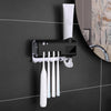 Smart UV Toothbrush Sanitizer Wall Mount With Toothpaste Dispenser Holder
