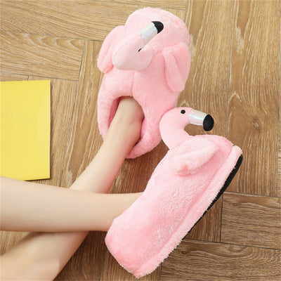 Flamingo Warm Non-slip Slippers