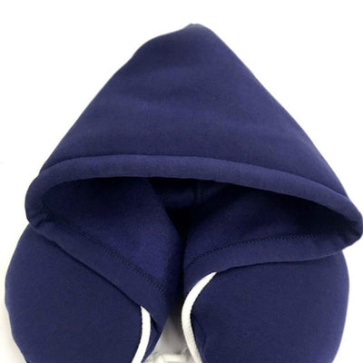Compact Travel Neck Pillow with Hood
