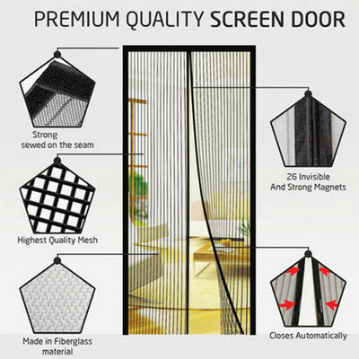 Magnetic Mesh Insect Screen Door - Your ultimate guard to insects this summer!