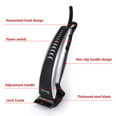 Electric Clipper Set Pro Electrical Men Hair Clipper Corded Electric Hair Cutter