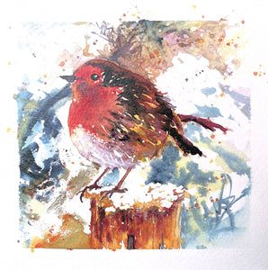 'Robin' Greetings Cards - Pack of 4