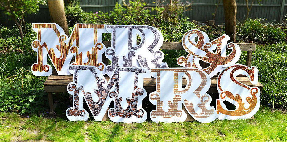 Letters - Textural Delights Mr & Mrs