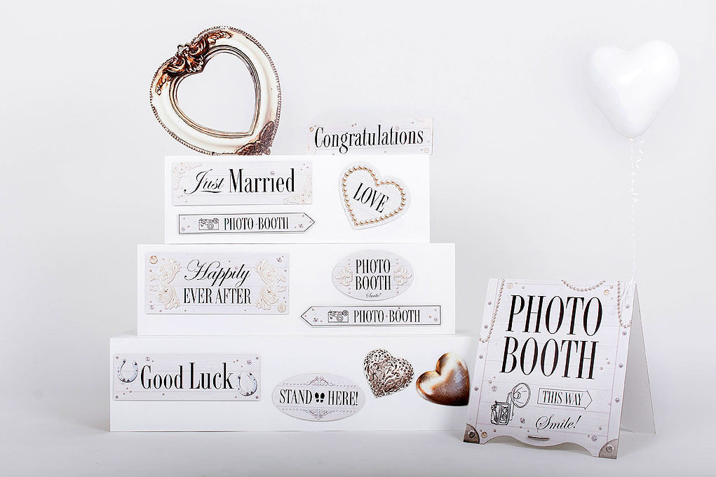 Wedding Photobooth props Classic White