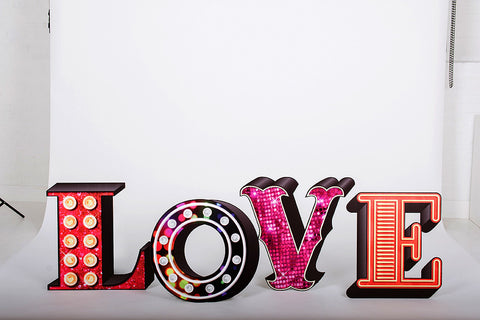 Wedding Love Large Letters Backdrop