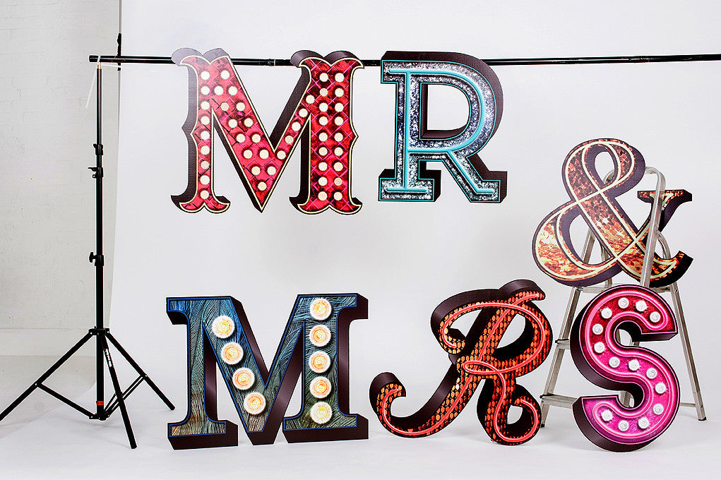 Wedding Large Mr & Mrs Letters
