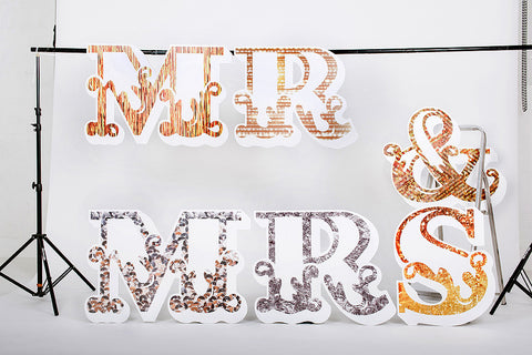 Wedding Mr & Mrs Large Letters